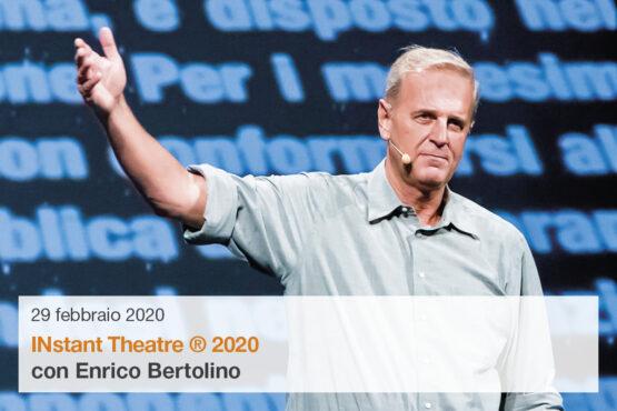Enrico Bertolino in INstant Theatre 2020
